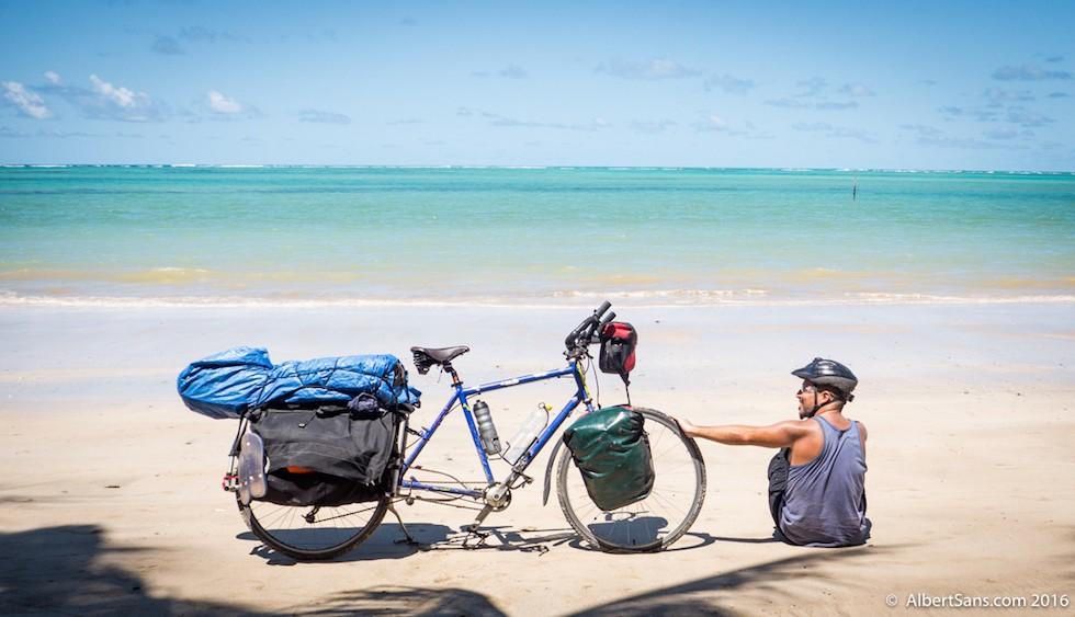 bicicleta y playa