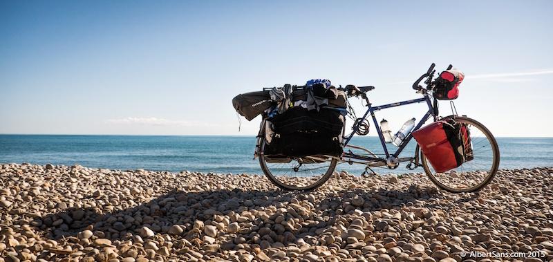 ona cicloturista nomada