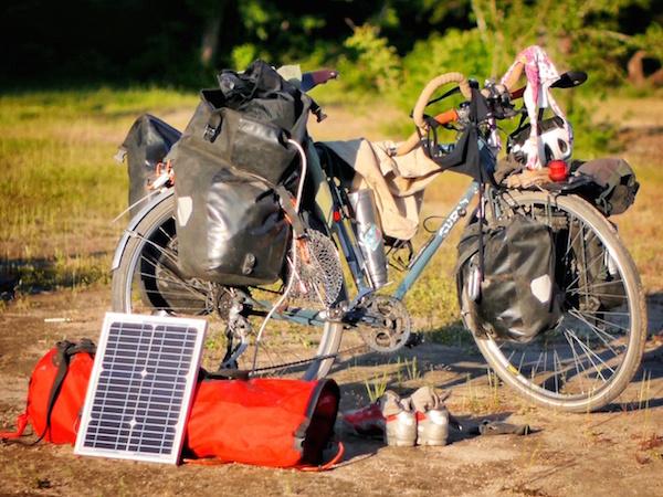 bicicleta placa solar